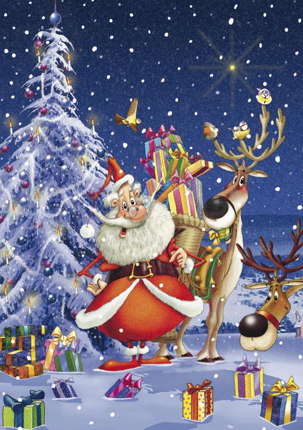 Puzzle Piatnik Happy Santa de 1000 Piezas