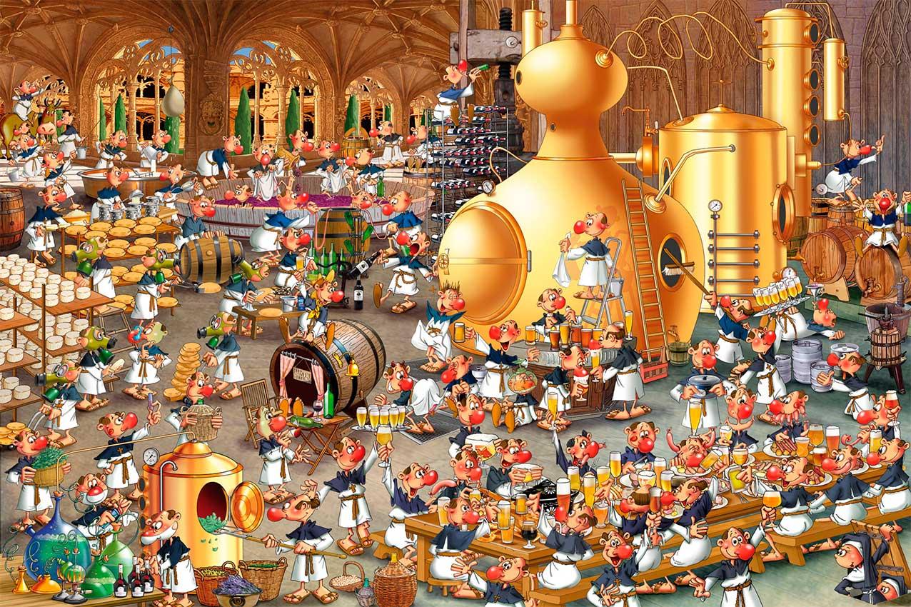 Puzzle Piatnik La Fábrica de Cerveza de 1000 Piezas