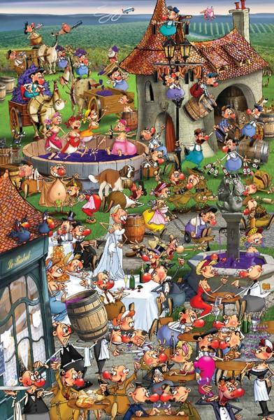 Puzzle Piatnik La Historia del Vino de 1000 Piezas