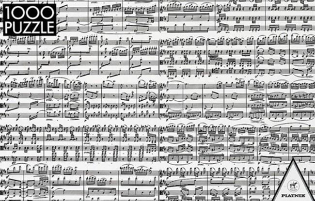 Puzzle Piatnik Notas de Música de 1000 Piezas