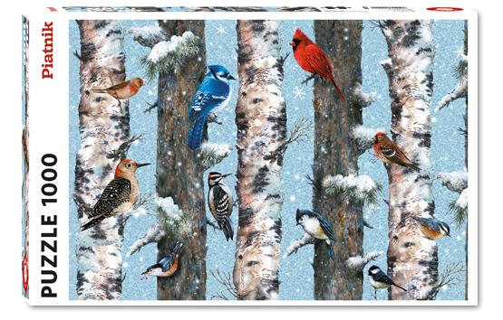 Puzzle Piatnik Pájaros de Invierno de 1000 Piezas