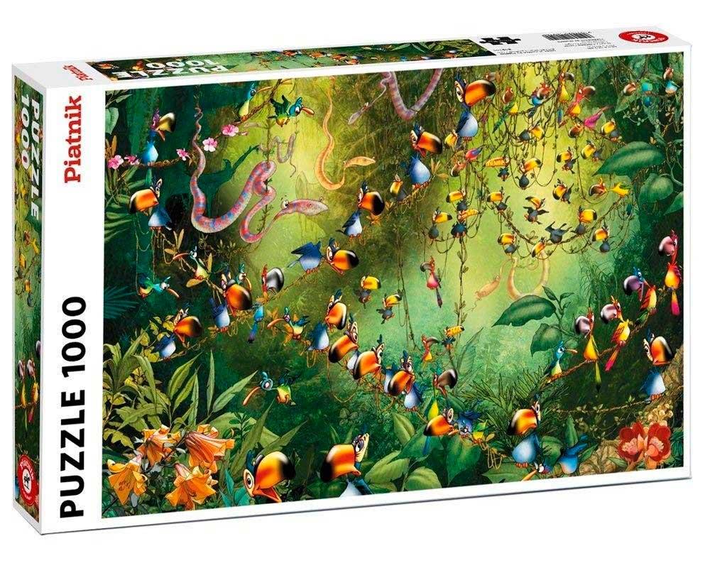 Puzzle Piatnik Pájaros en la Selva de 1000 Piezas