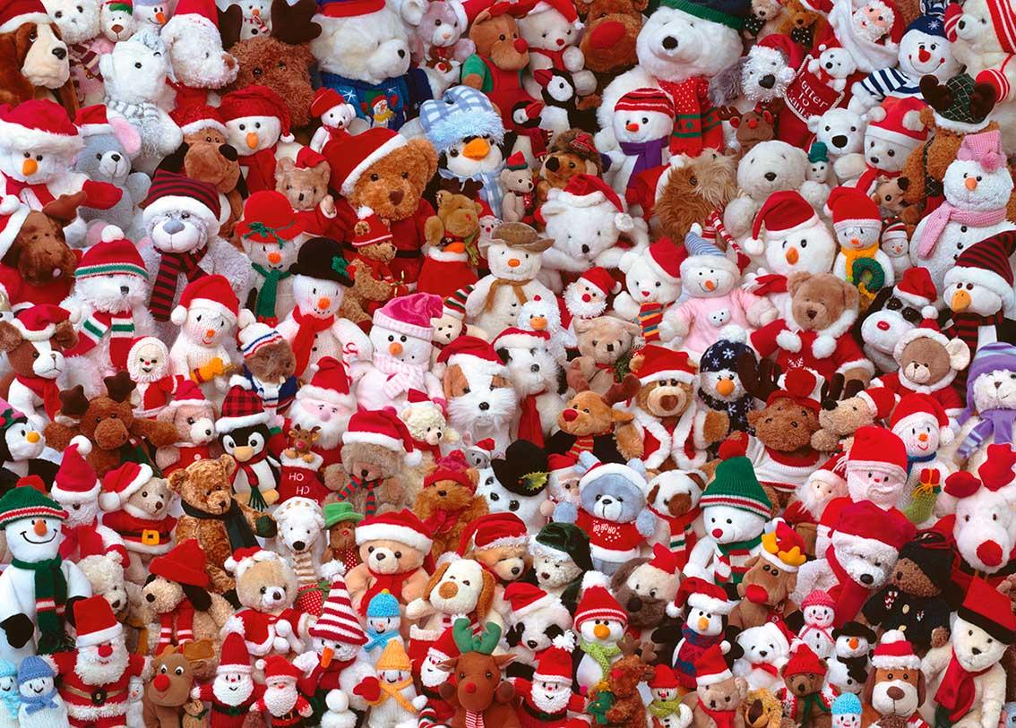 Puzzle Piatnik Peluches de Navidad de 1000 Piezas
