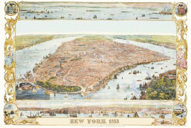 Puzzle Piatnik Plano de New York, 1853 de 1000 Piezas