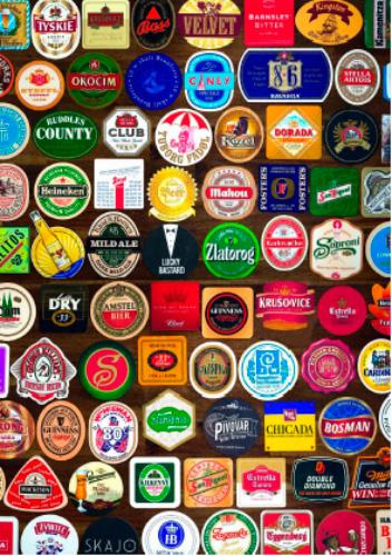 Puzzle Piatnik Posavasos de Cervezas de 1000 Piezas