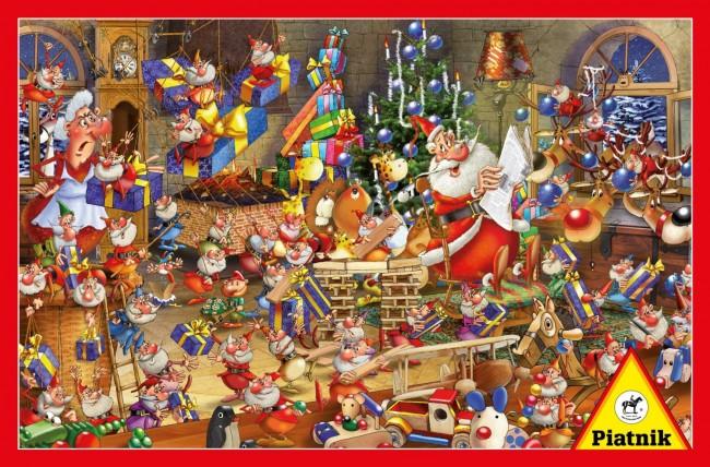 Puzzle Piatnik Preparación de la Navidad de 1000 Piezas