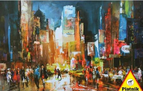 Puzzle Piatnik Times Square de Noche de 1000 Piezas