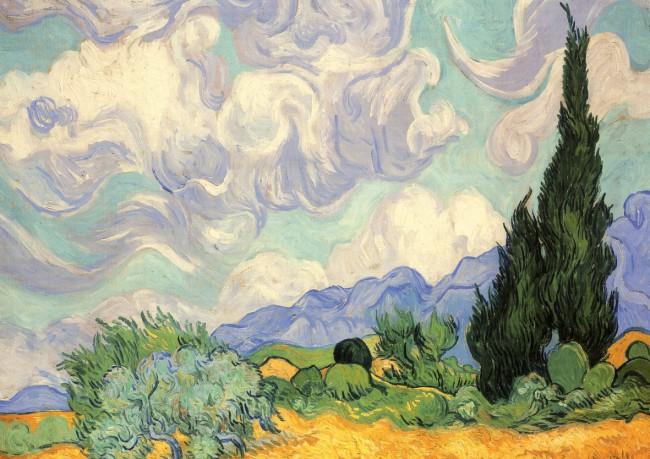 puzzles de Vincent Van Gogh, Puzzle Piatnik Trigal con Cipreses de 1000 Piezas