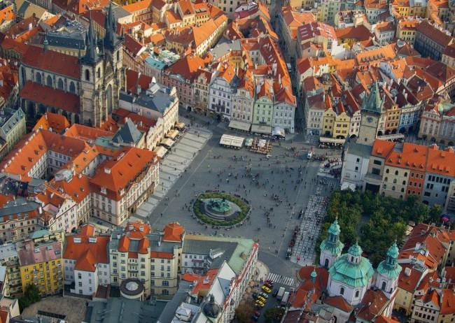 Puzzle Piatnik Vista Aérea de Praga de 1000 Piezas