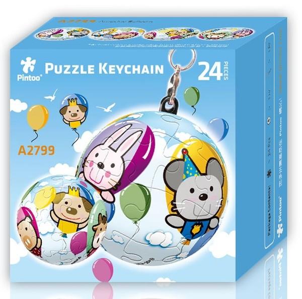 Puzzle Pintoo 3D Llavero Globos de 24 Piezas