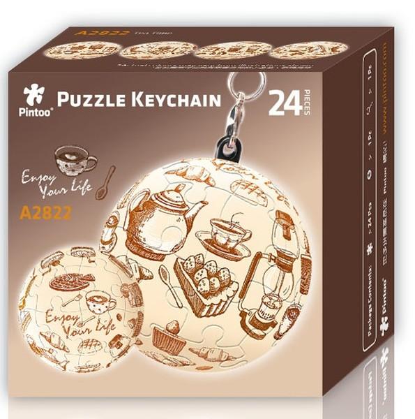 Puzzle Pintoo 3D Llavero Hora del Té de 24 Piezas