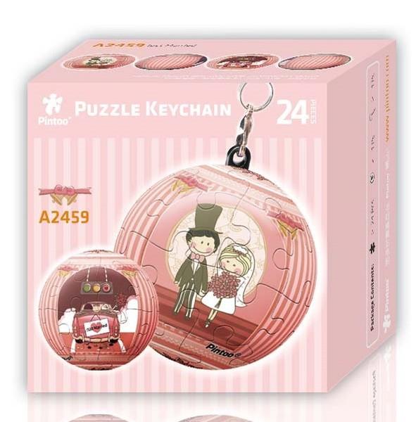 Puzzle Pintoo 3D Llavero Recién Casados de 24 Piezas