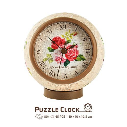 Puzzle Pintoo 3D Reloj Classic Rose de 145 Piezas