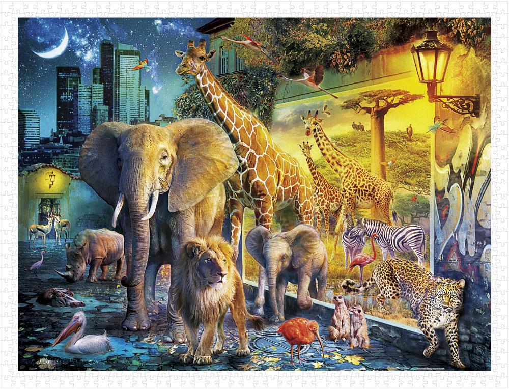 Puzzle Pintoo Animales Mágicos de la Noche de 1200 Piezas