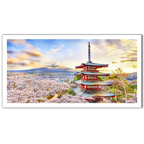 Puzzle Pintoo Fuji Sengen Shrine, Japón de 800 Piezas