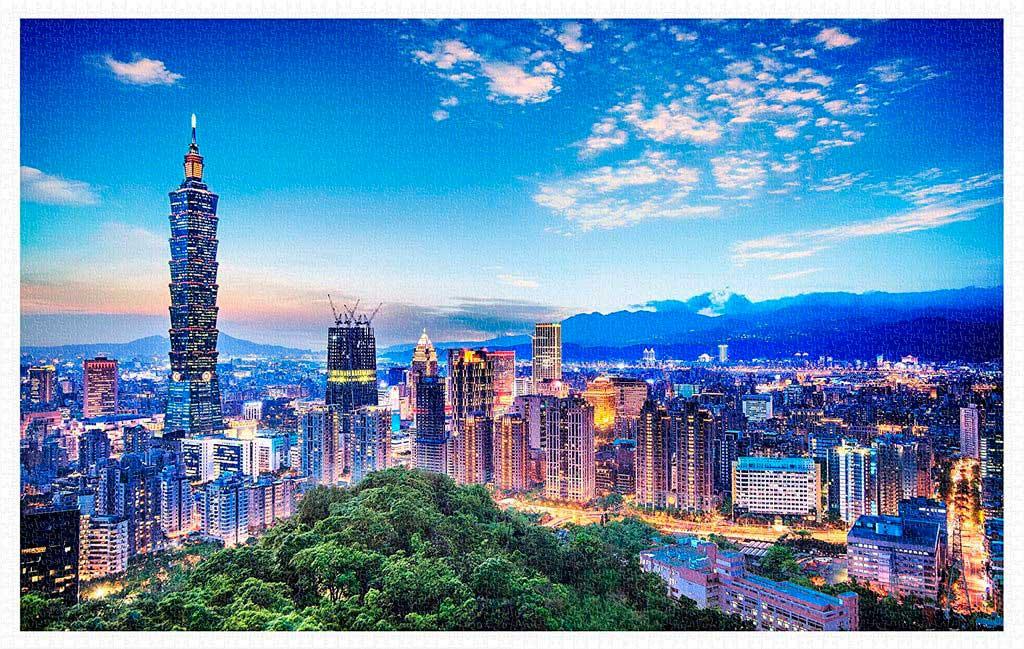 Puzzle Pintoo Hermosa Puesta de Sol de Taipei de 4000 Piezas