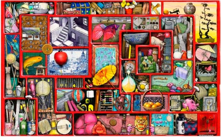 Puzzle Pintoo La Gran Caja Roja de 1000 Piezas