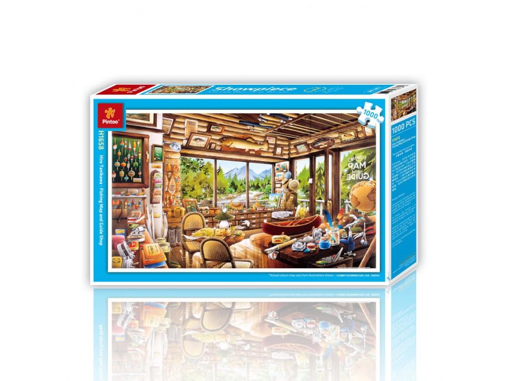 Puzzle Pintoo La Tienda de Mapas y Pesca de 1000 Piezas