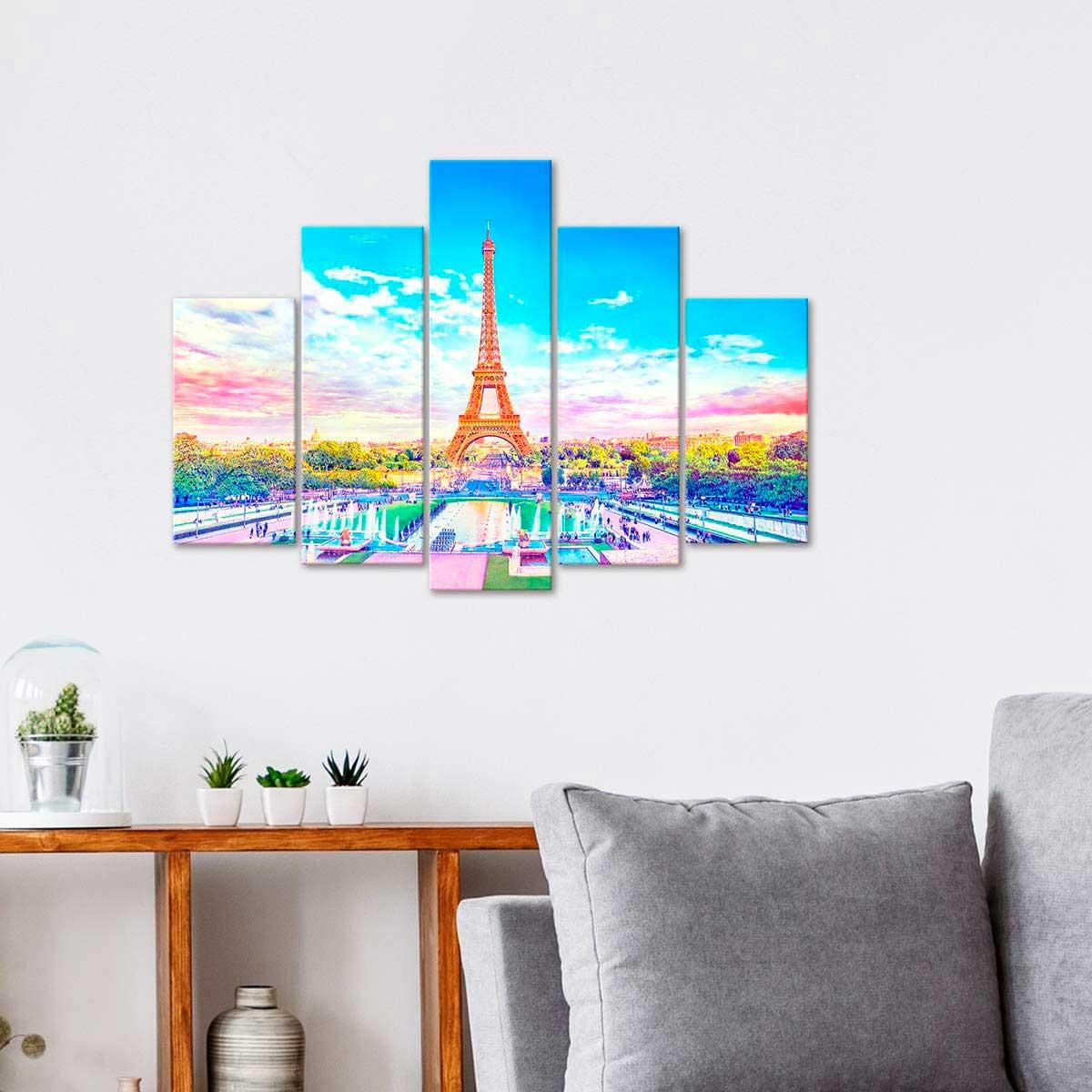 Puzzle Pintoo Lienzo Precioso París de 792 Piezas