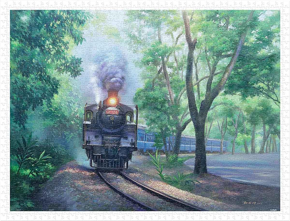 Puzzle Pintoo Locomotora por el Pasaje Verde de 1200 Piezas