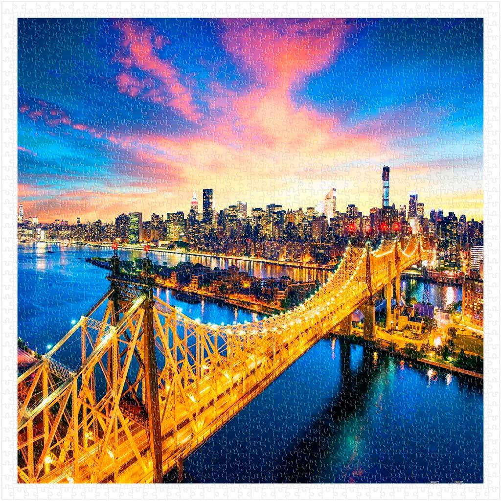 Puzzle Pintoo Manhattan con el Puente de Queensboro de 1600 Pzs