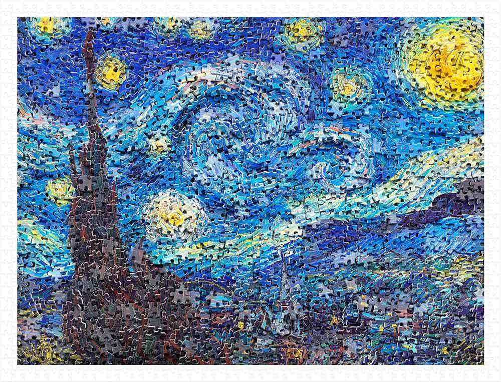 Puzzle Pintoo Noche Estrellada de Van Gogh de 1200 Piezas