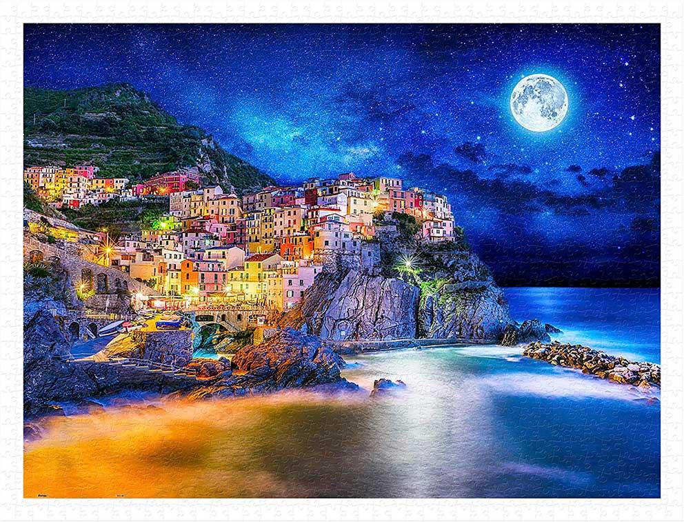 Puzzle Pintoo Noche Estrellada en Cinque Terre de 1200 Piezas