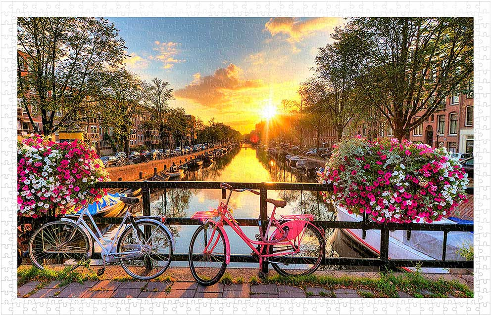 Puzzle Pintoo Precioso Amanecer Sobre Amsterdam de 1000 Pzs