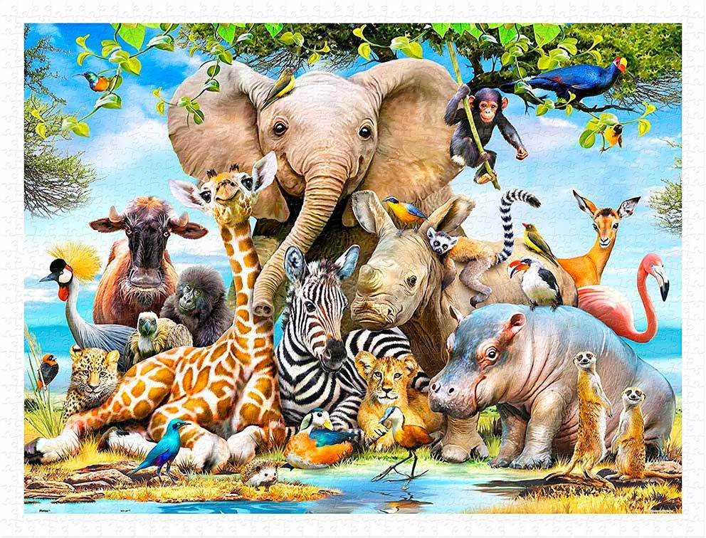 Puzzle Pintoo Sonrisa Africana de 1200 Piezas