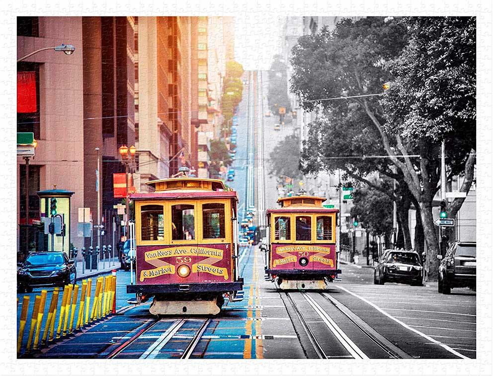 Puzzle Pintoo Tranvías en San Francisco de 1200 Piezas