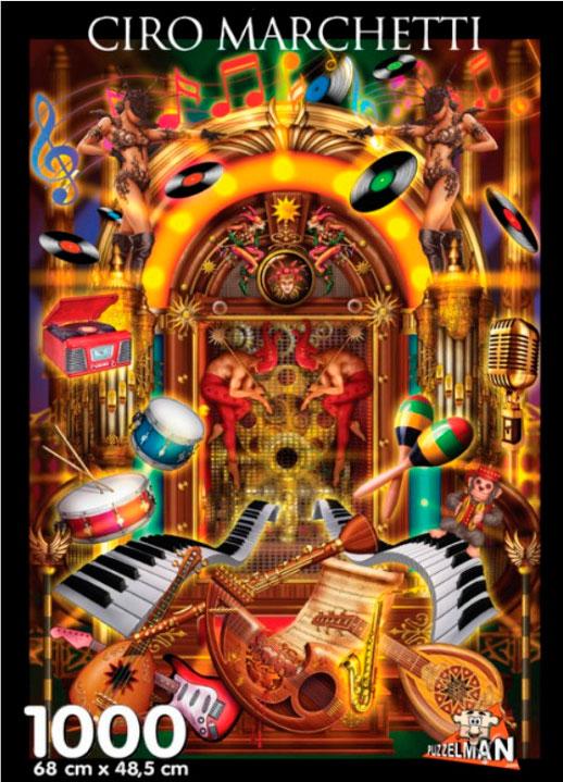 Puzzle Puzzelman Jukebox de 1000 Piezas