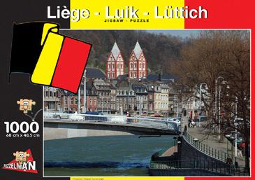 Puzzle Puzzelman Lieja, Bélgica de 1000 Piezas