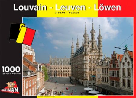 Puzzle Puzzelman Lovaina, Bélgica de 1000 Piezas