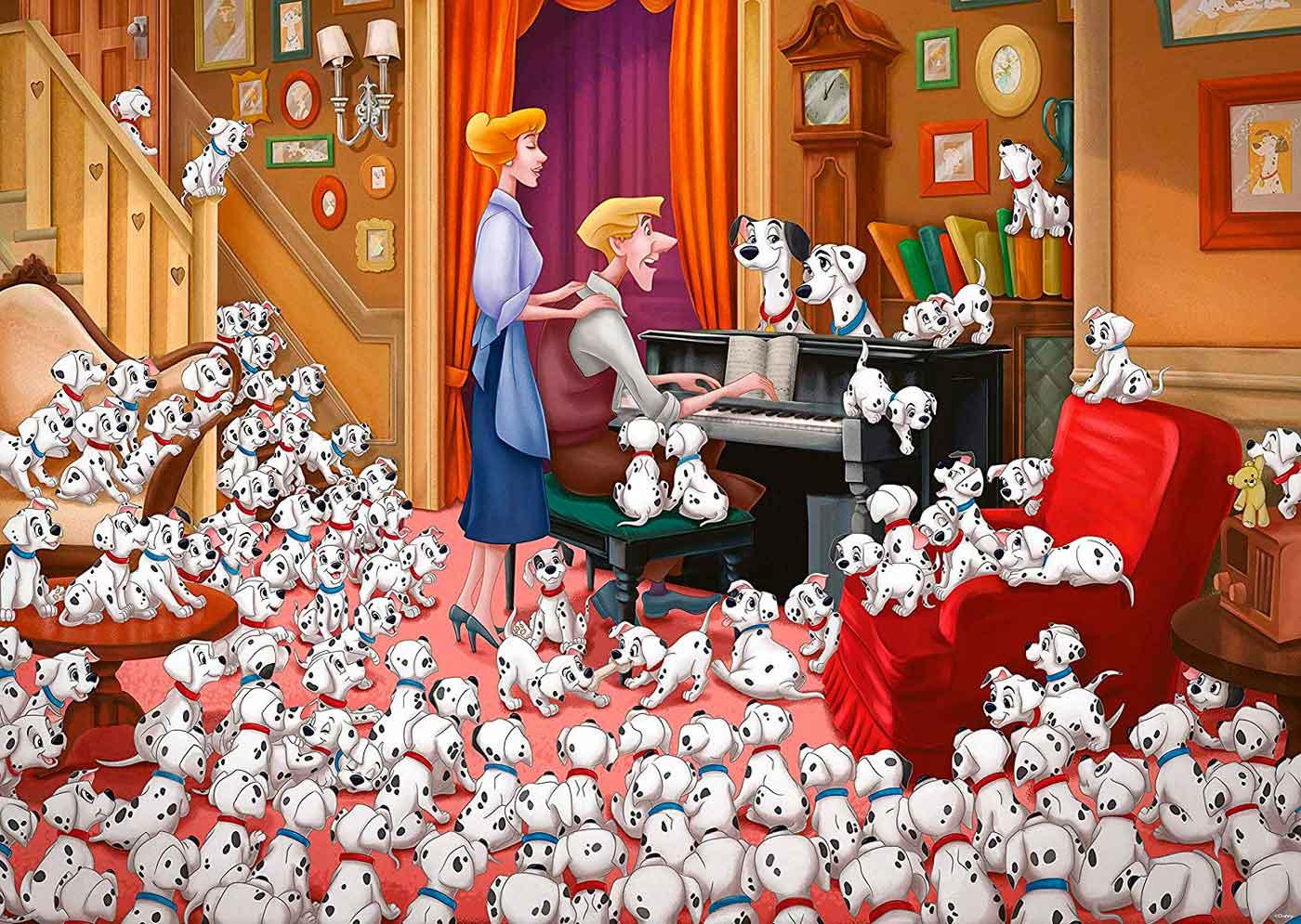 Puzzle Ravensburger 101 Dálmatas de 1000 Piezas