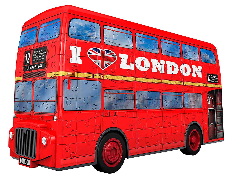 Puzzle Ravensburger 3D Bus Londinense de 216 Piezas