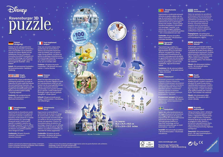 Puzzle Ravensburger 3D Castillo Disney 216 Piezas