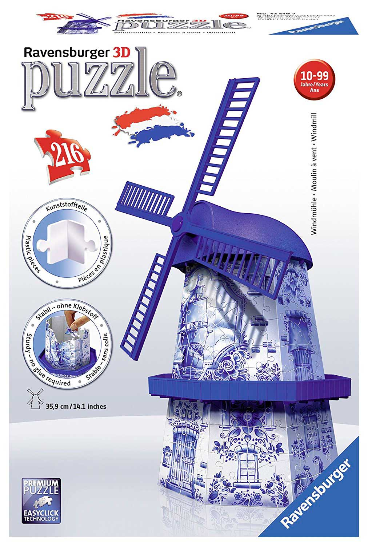 Puzzle Ravensburger 3D Molino de Viento de 216 Piezas