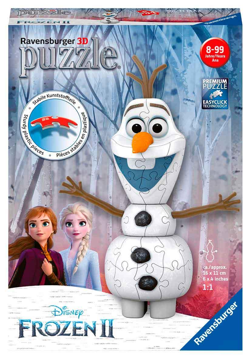 Puzzle Ravensburger 3D Olaf Frozen 2 de 54 Piezas