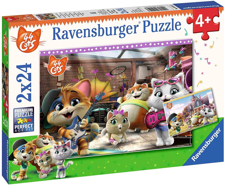 Puzzle Ravensburger 44 Cats de 2x24 Piezas