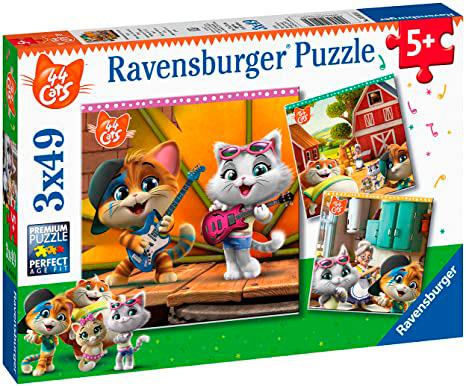 Puzzle Ravensburger 44 Cats de 3x49 Piezas