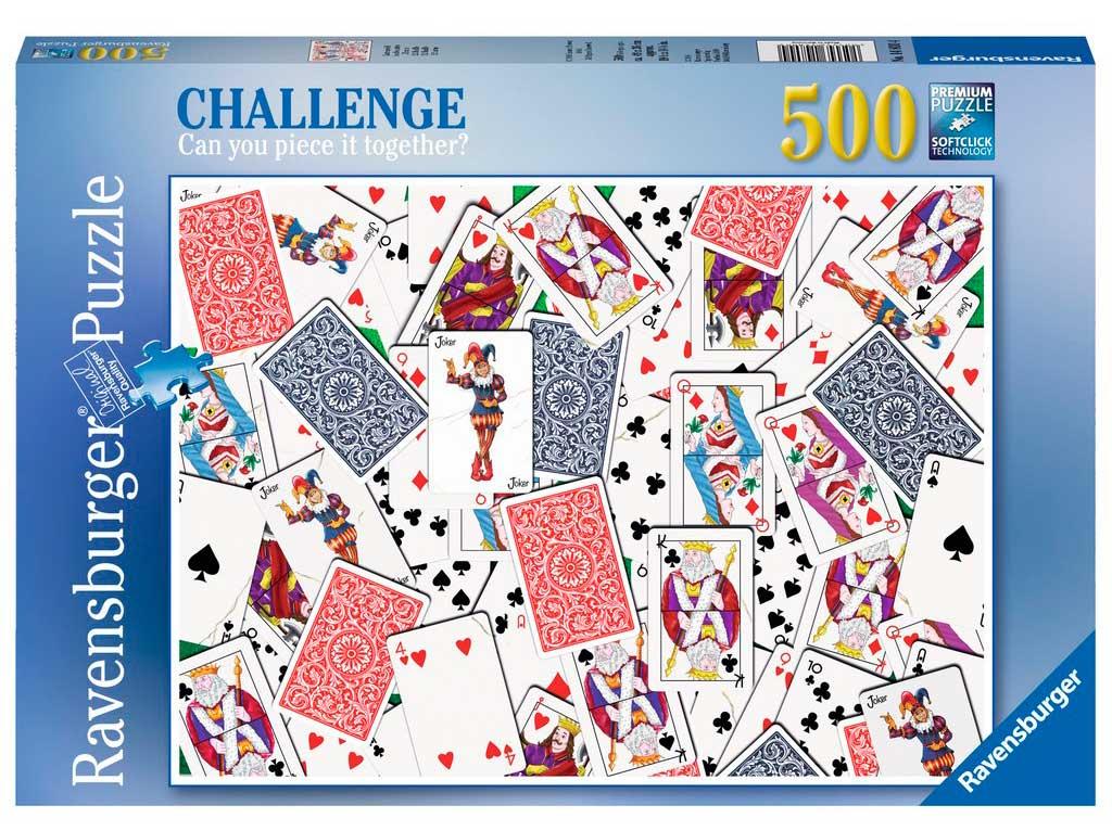 Puzzle Ravensburger 52 Cartas 500 Piezas
