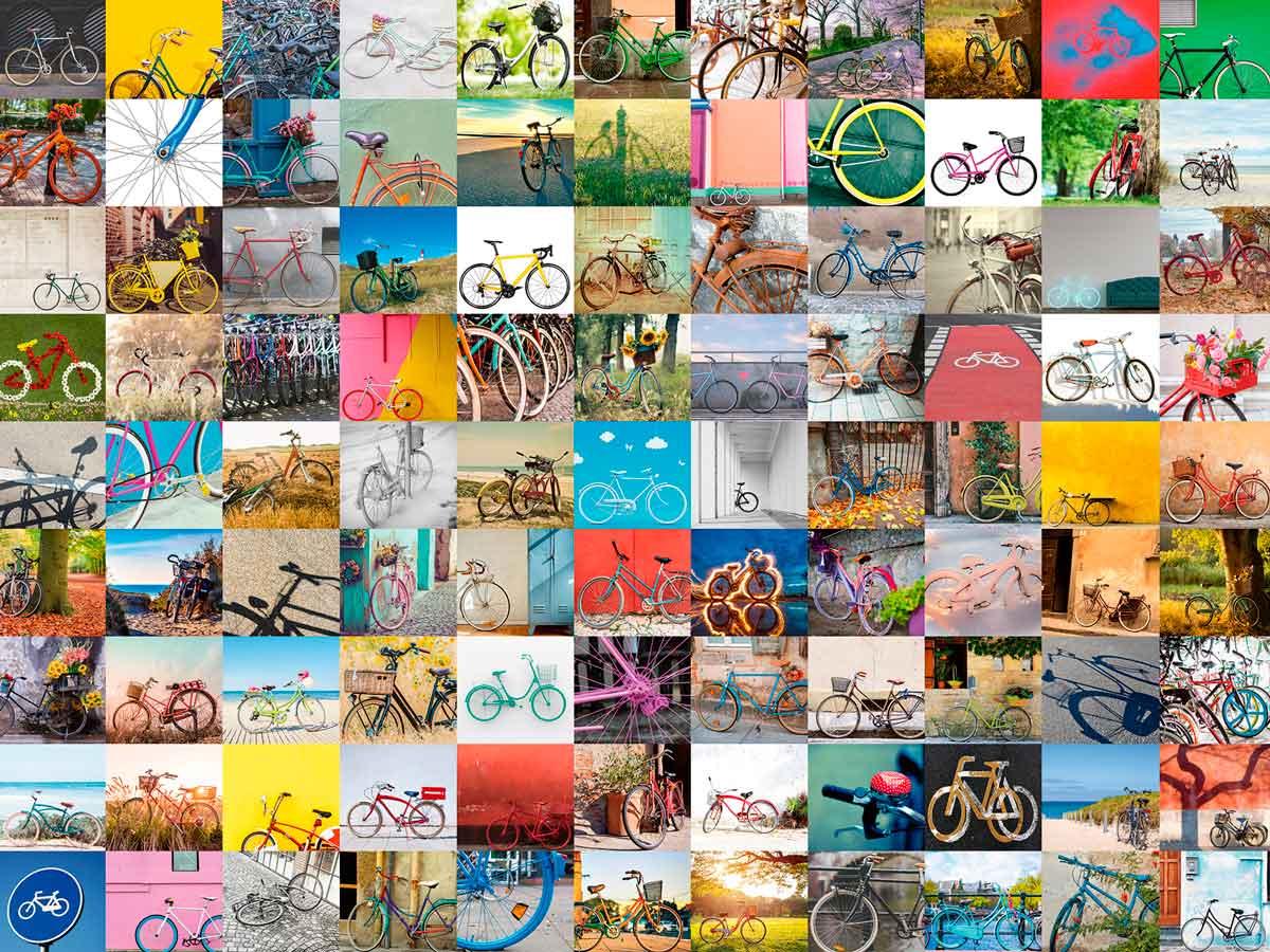 Puzzle Ravensburger 99 Bicicletas y Más... de 1500 Piezas