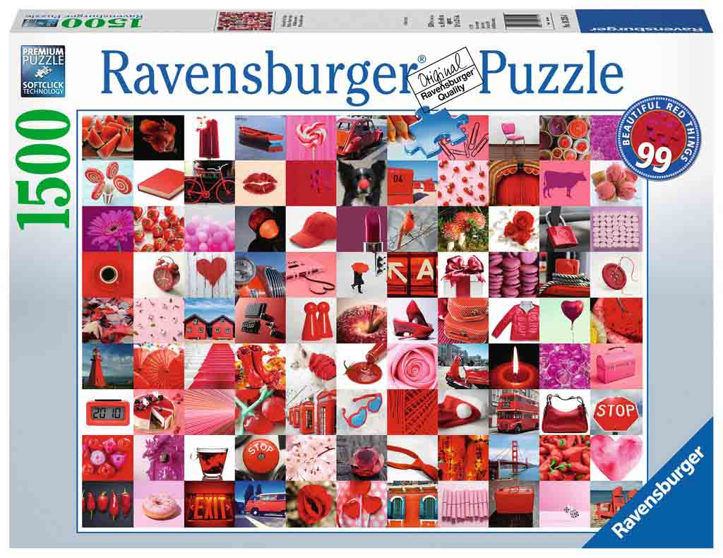 Puzzle Ravensburger 99 Cosas Bellas Rojas de 1500 Piezas