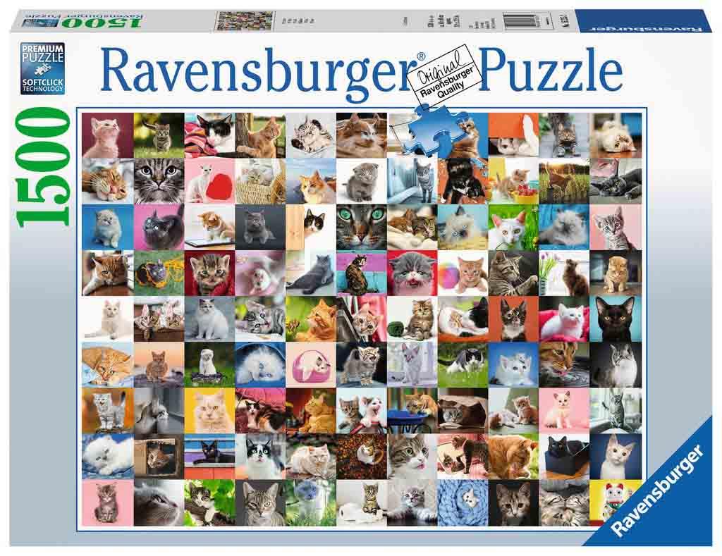 Puzzle Ravensburger 99 Gatos de 1500 Piezas