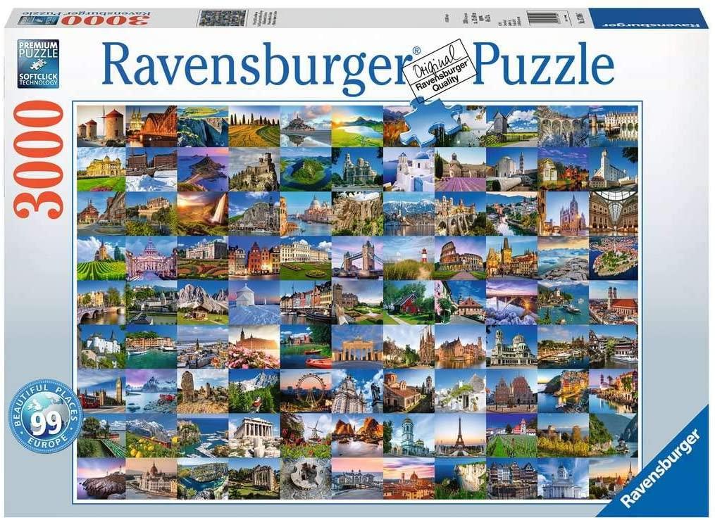Puzzle Ravensburger 99 Hermosos Lugares en Europa de 3000 Pzs