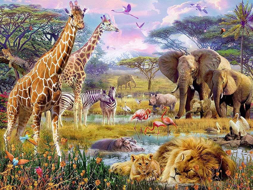 Puzzle Ravensburger África Colorida de 1500 Piezas