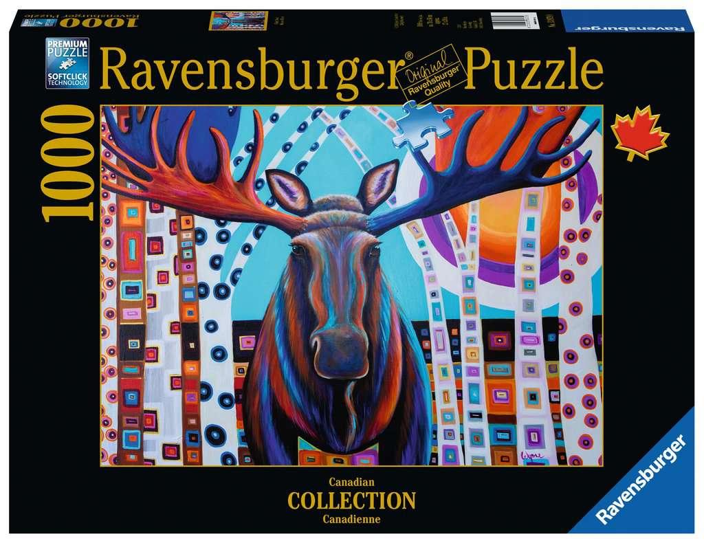 Puzzle Ravensburger Alce de Invierno de 1000 Piezas