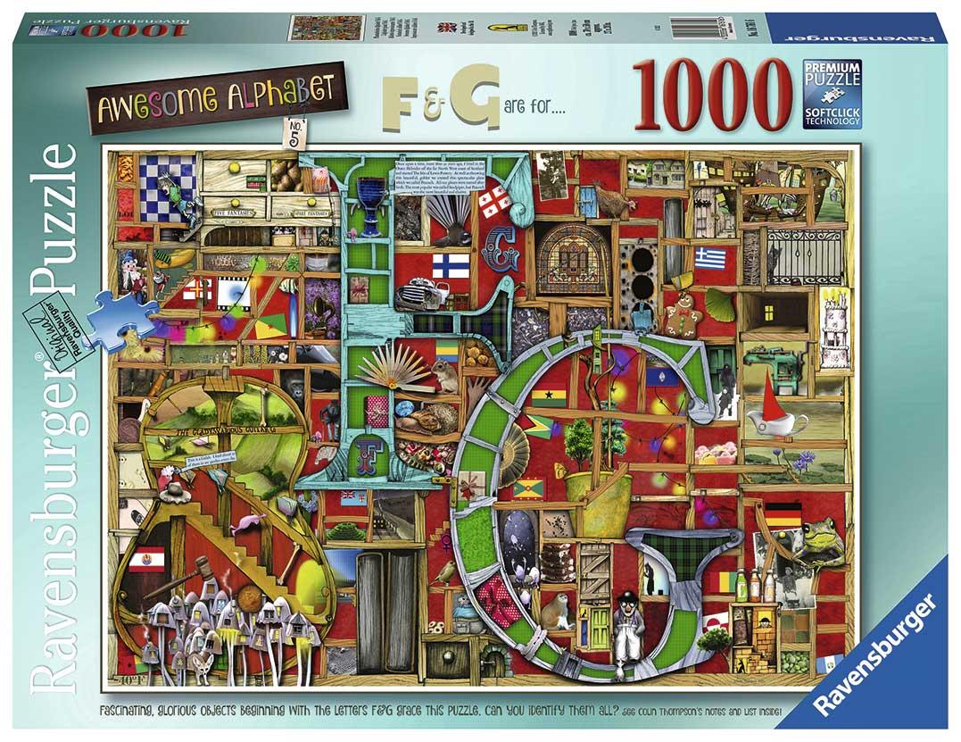 Puzzle Ravensburger Alfabeto F y G de 1000 Piezas