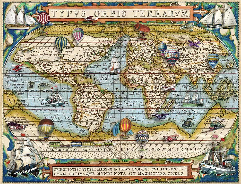 Puzzle Ravensburger Alrededor del Mundo de 2000 Piezas