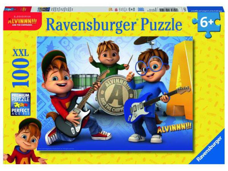 Puzzle Ravensburger Alvin y Las Ardillas XXL de 100 Piezas